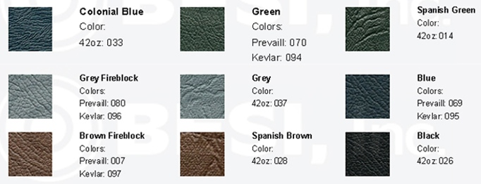 Thomas Bus Seat Vinyl Swatches from BESI